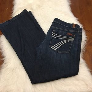 7 For All Mankind Dojo Flare Jeans 32